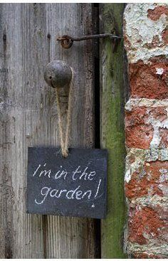 inthegardendoorsign