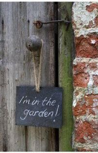I'm usually in the garden! How about you?!